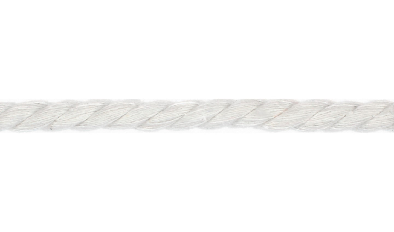 Kordel Baumwolle rund 8mm uni weiß