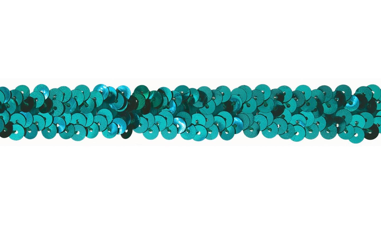 Pailletten Gummiband 20mm emerald (526)