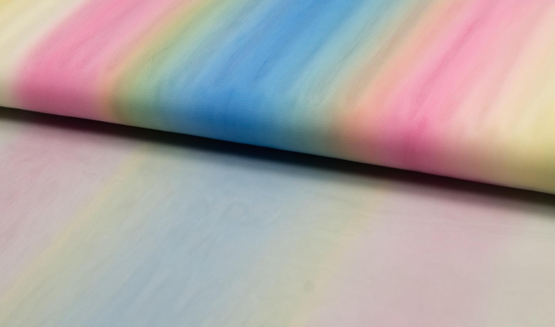 Regenbogen Tüll bunten Streifen