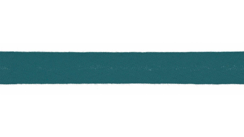Schrägband Musselin uni petrol (005)