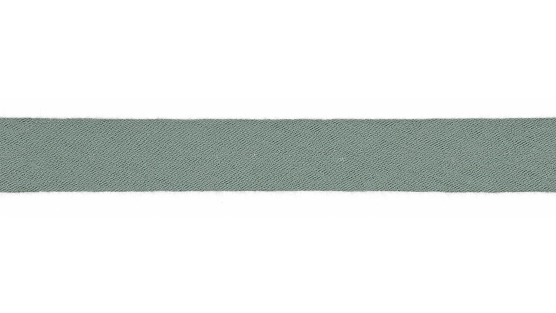 Schrägband Musselin uni dusty mint (023)