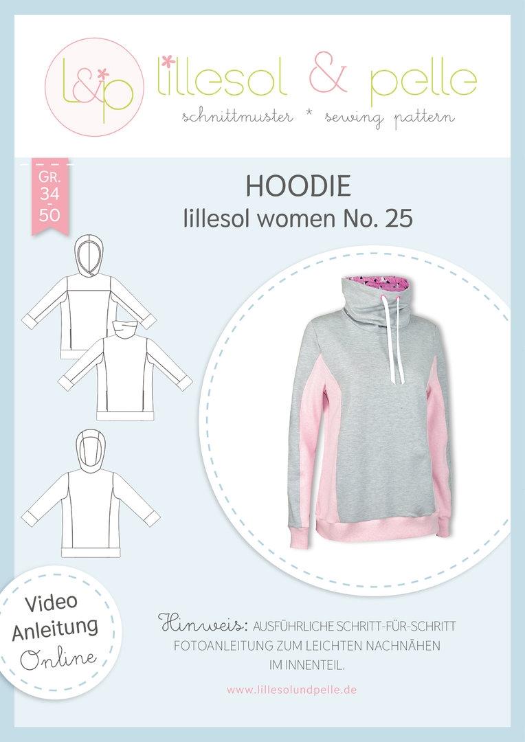 Papierschnittmuster Hoodie lillesol women No.25 von Lillesol&Pelle