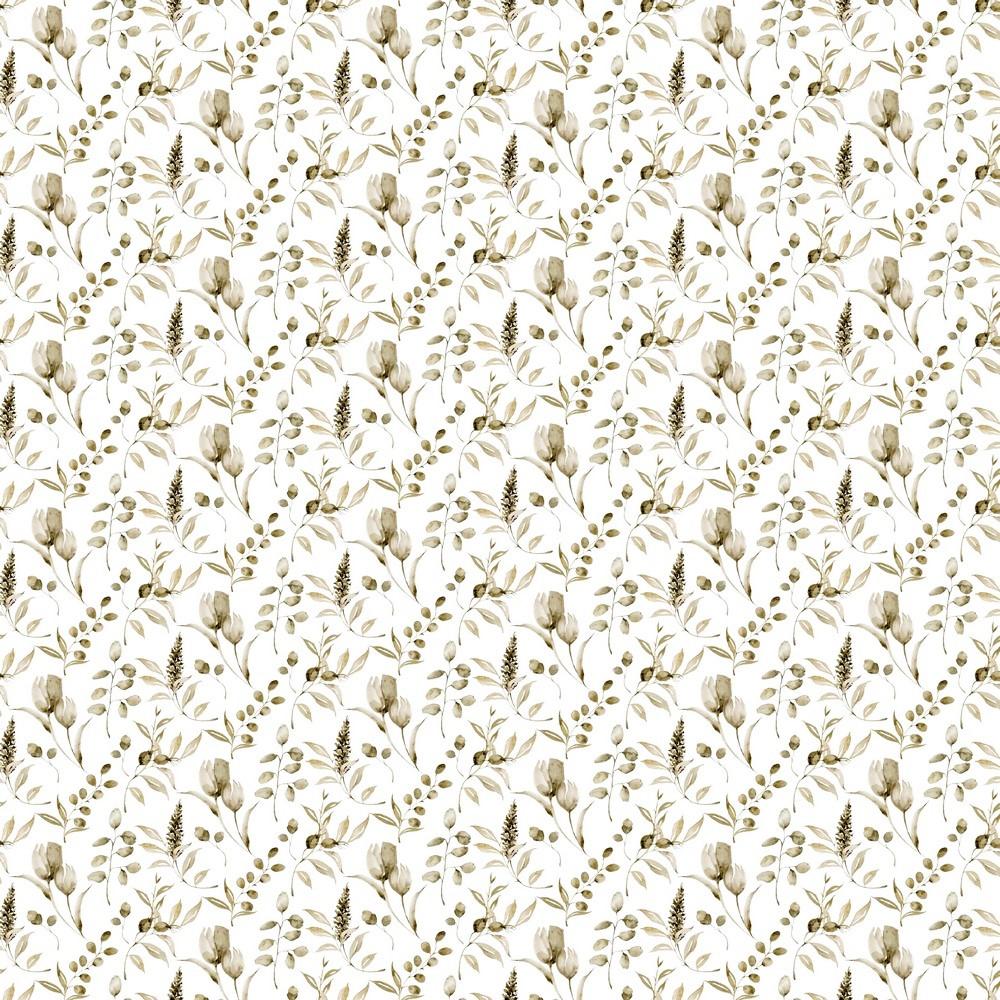 "Digitaljersey Organic Cotton ""Vintage Leaves"" - ecru"