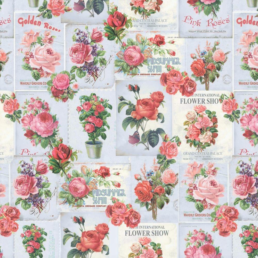 "Canvas ""Flower Show"" - hellgrau"