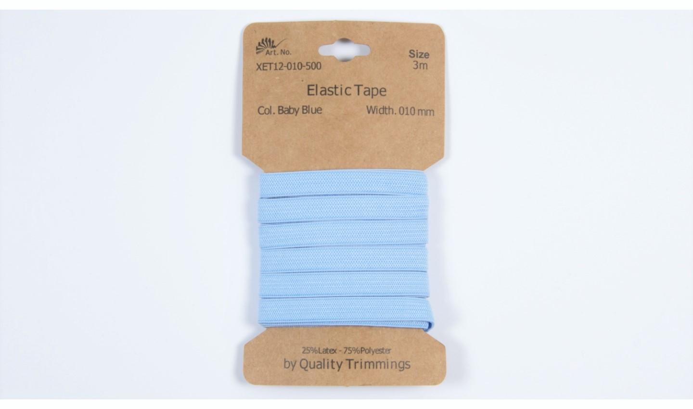 Karte 3m Elastik Gummi 10mm breit in baby blue (500)