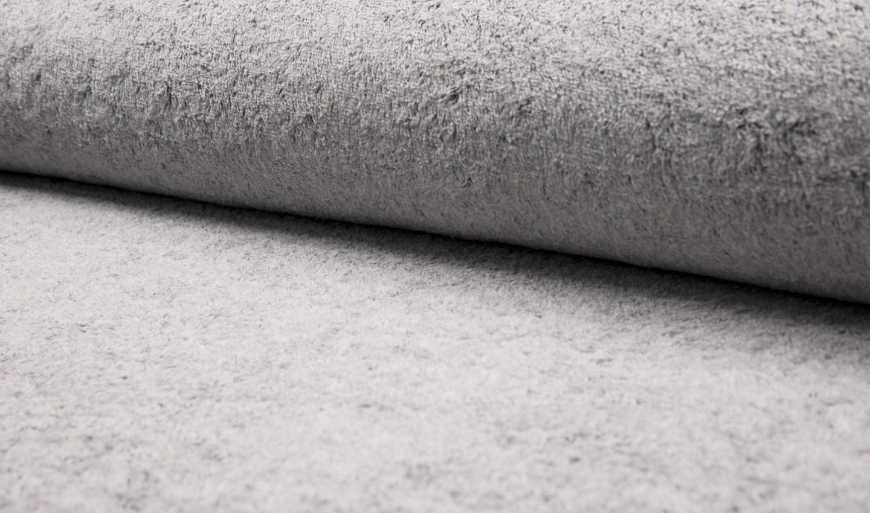 0,32m Reststück    Frotteestoff uni grey