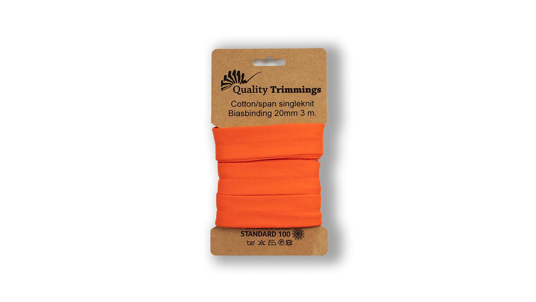 Schrägband Jersey Ben uni orange (034) Karte 3m