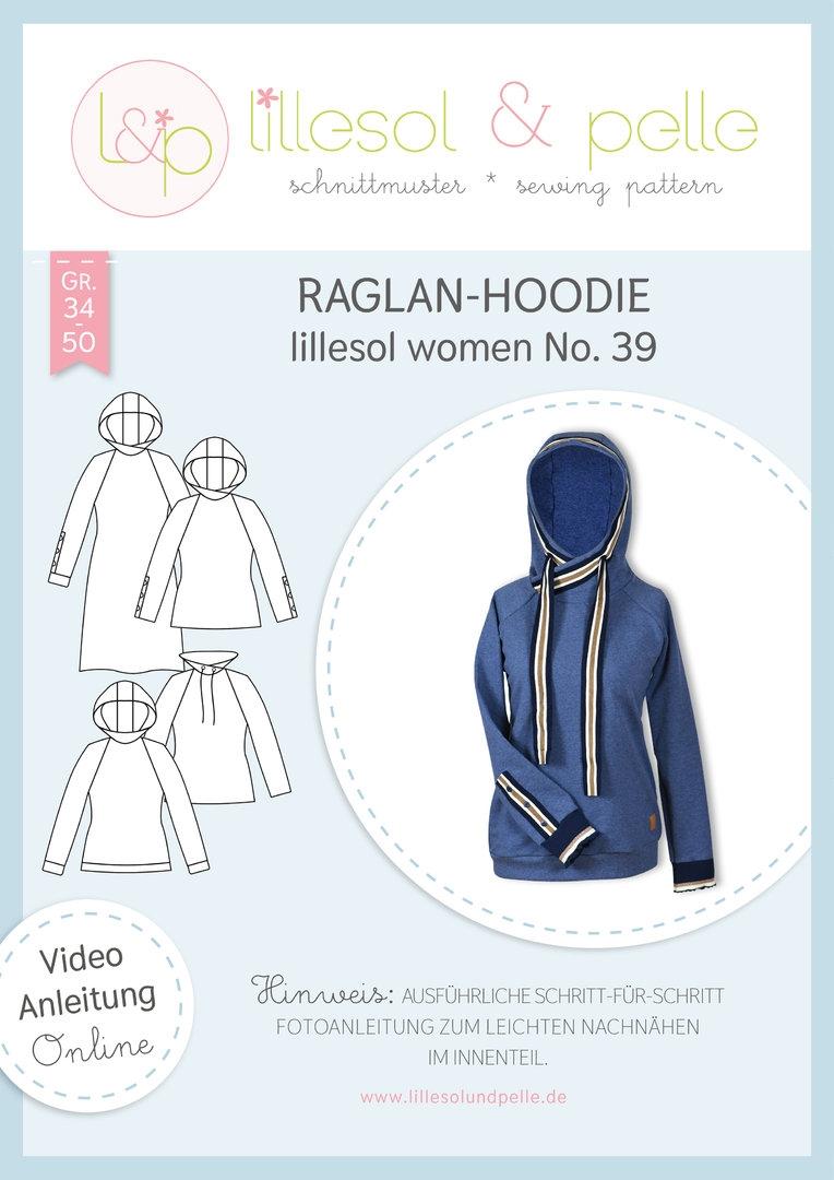 Papierschnittmuster Raglan-Hoodie lillesol women No.39 von Lillesol&Pelle