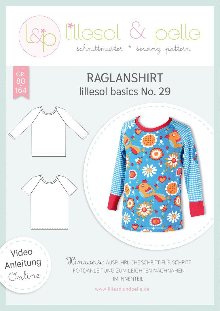 Papierschnittmuster Raglan-Shirt kids basics No.29 von Lillesol&Pelle