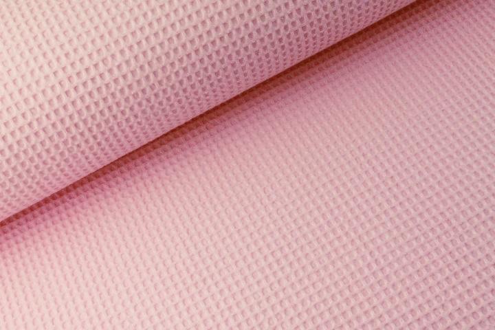 Waffelstoff uni rosa