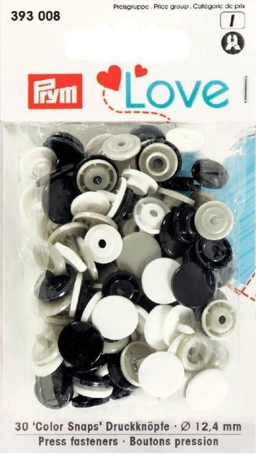 Prym Love Druckknopf Color Snaps 12,4mm marine/weiss/grau