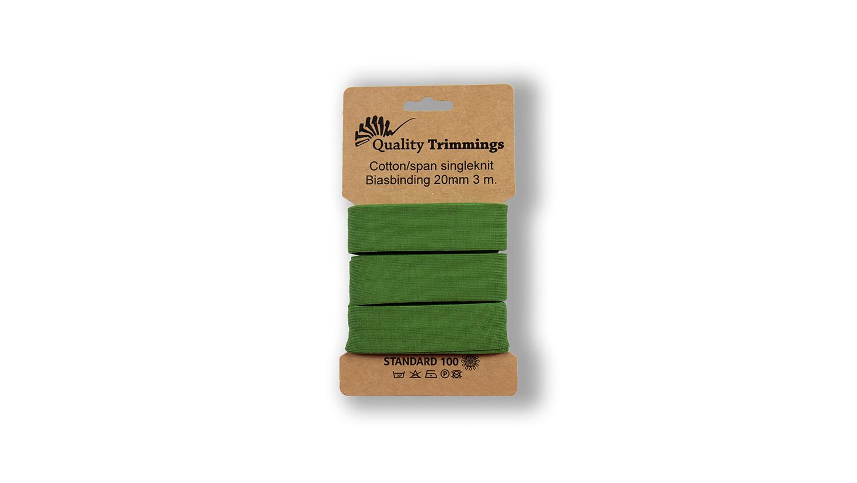 Schrägband Jersey Ben uni olive (025) Karte 3m