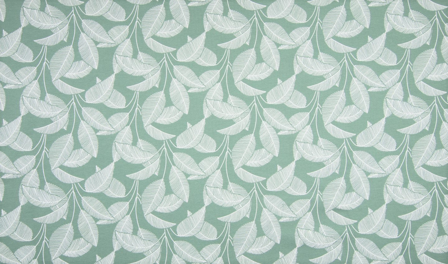 "Sommersweat Organic Cotton angeraut ""Leaves"" - dusty mint"