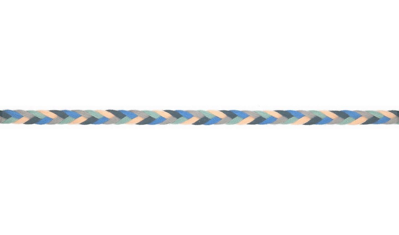 Kordel geflochten Baumwolle 8mm flach dunkelblau, blau, grau, mint, lachs.