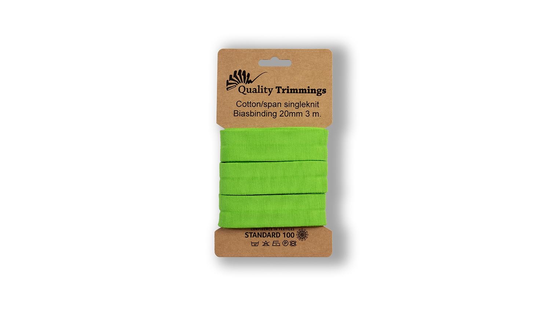 Schrägband Jersey Ben uni lime (023) Karte 3m