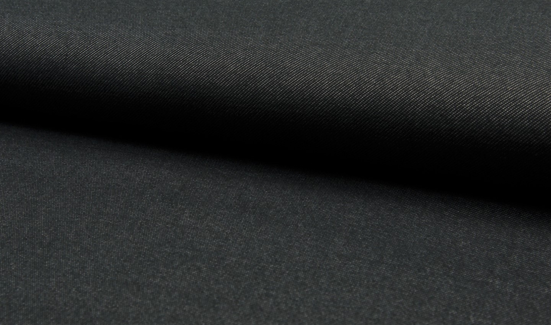 0,47m Reststück     Jersey uni schwarz in Jeansoptik