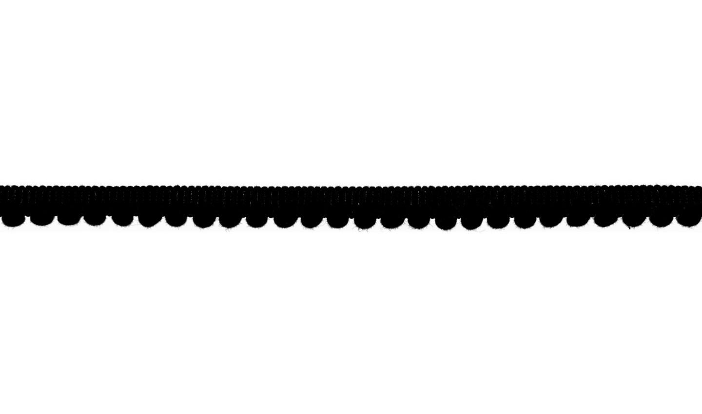 Pom Pom Borte in uni black 6mm (569)