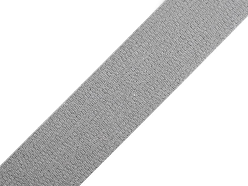 Gurtband Baumwolle 30mm uni grau