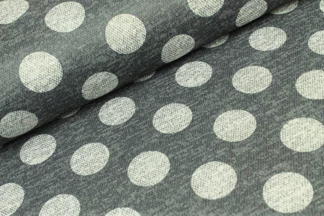 Jacquard anthrazit meliert mit grauen Dots