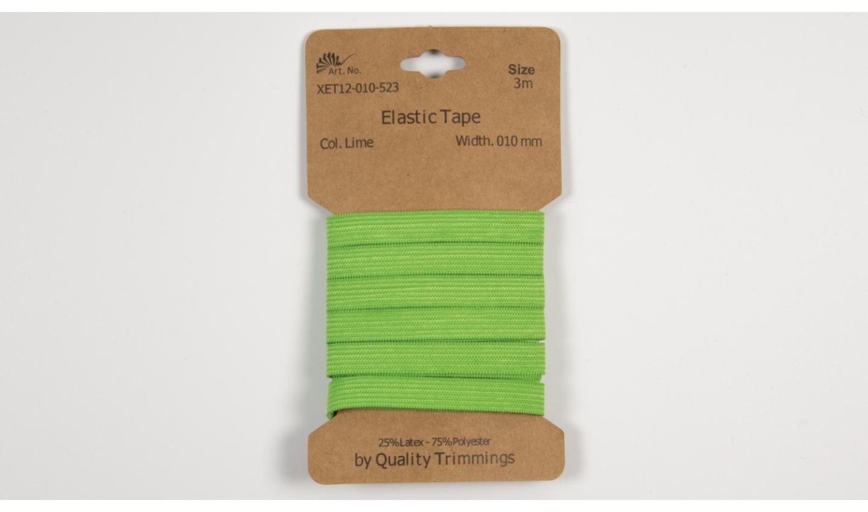 Karte 3m Elastik Gummi 10mm breit in lime (523)