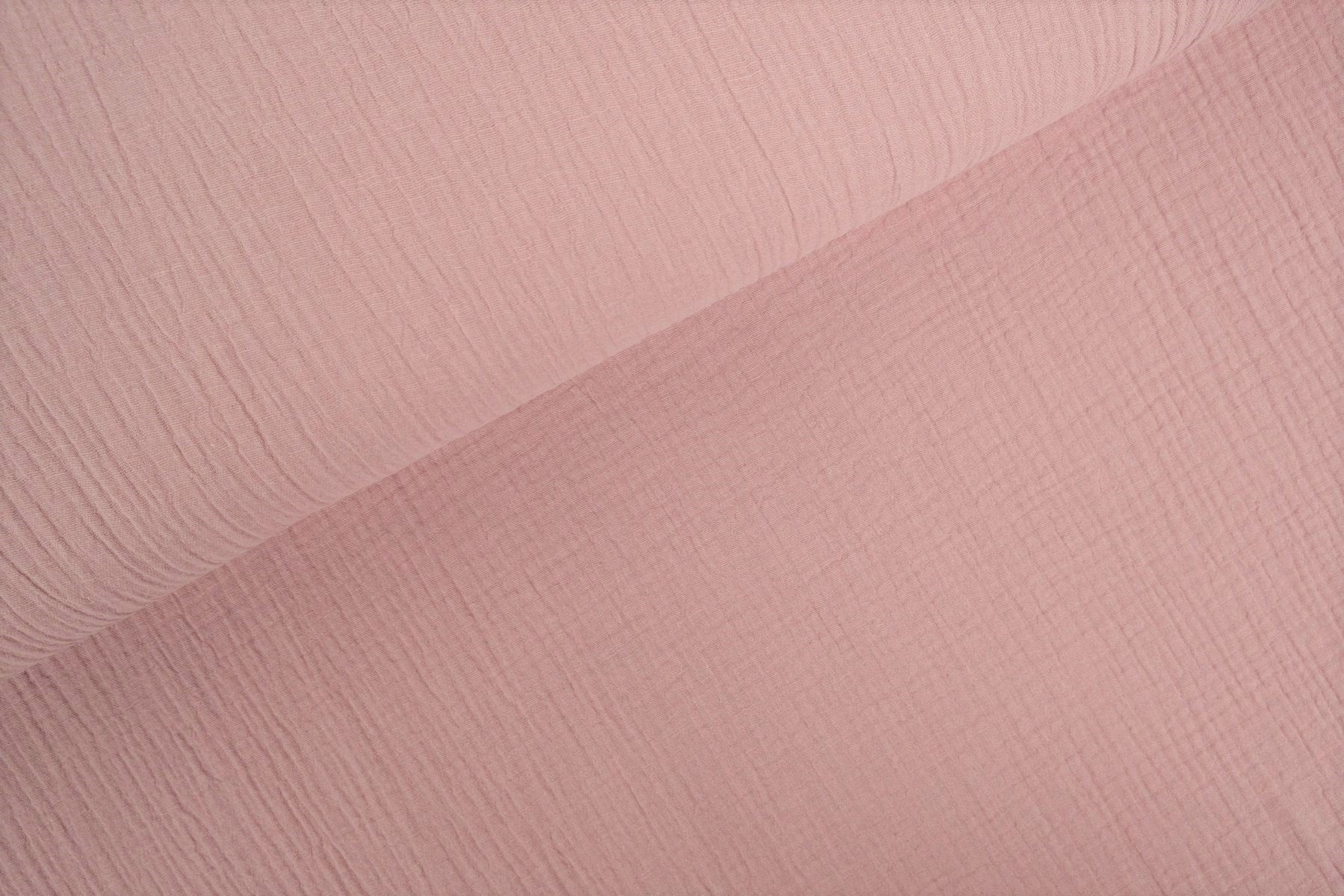 Double Gauze / Musselin uni light old pink