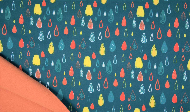 """Softshell """"Raindrops"""" - petrol"""