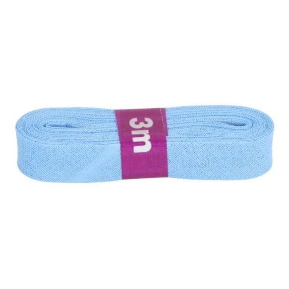 3m Baumwoll Schrägband uni hellblau 12mm
