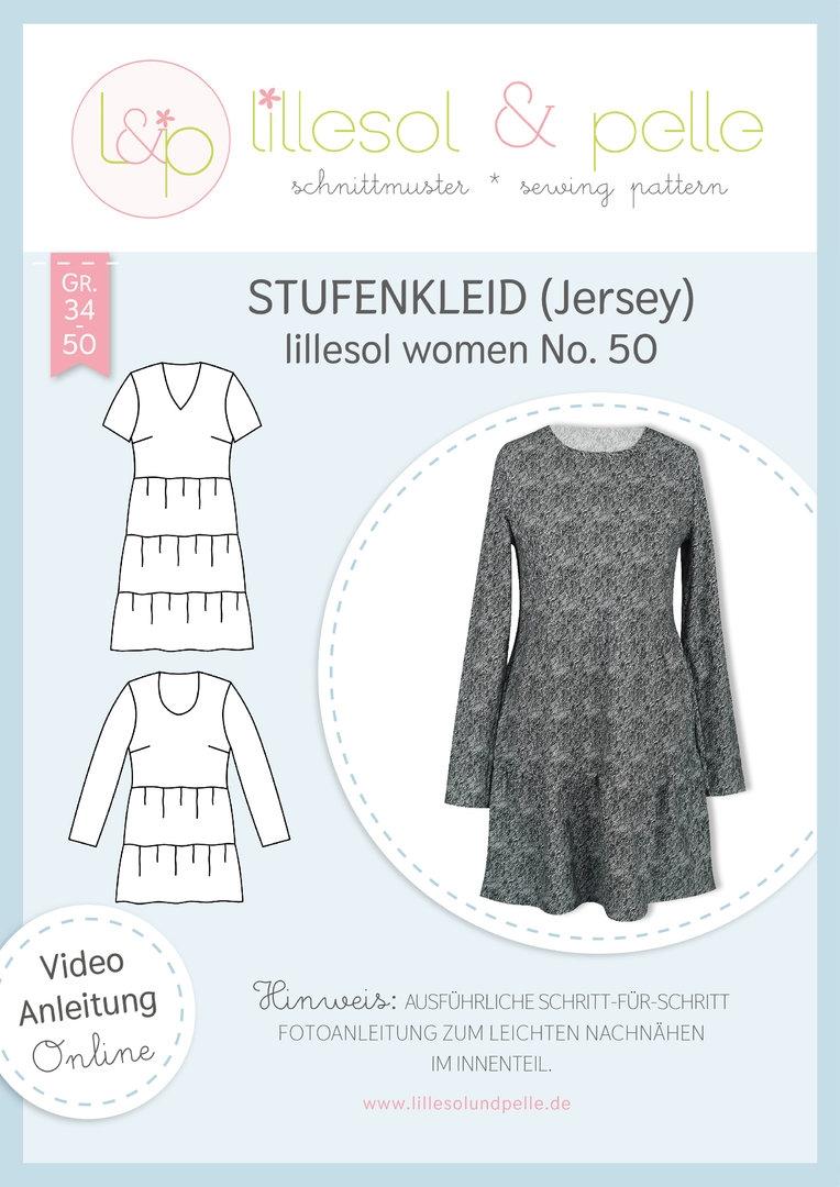 Papierschnittmuster Stufenkleid lillesol women No.50 von Lillesol&Pelle