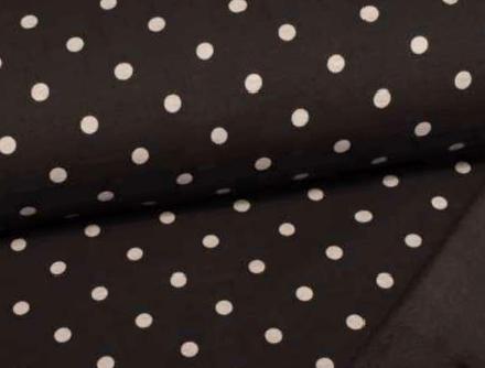 Alpenfleece schwarz mit Punkten