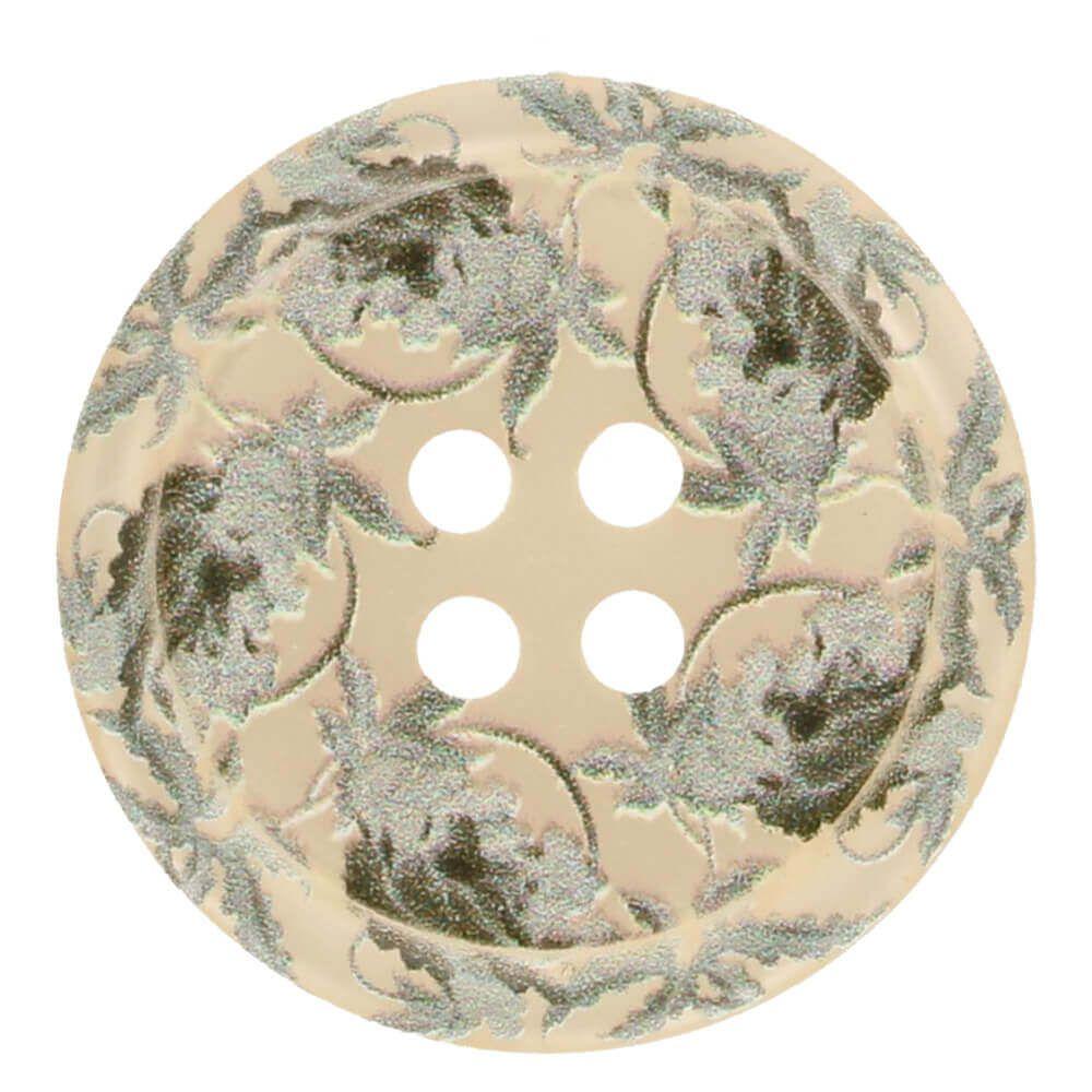 Knopf Blümchen 25mm creme