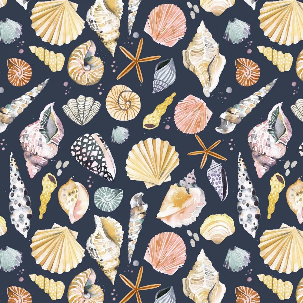 """Canvas Digital """"Seashells"""" - dark navy"""