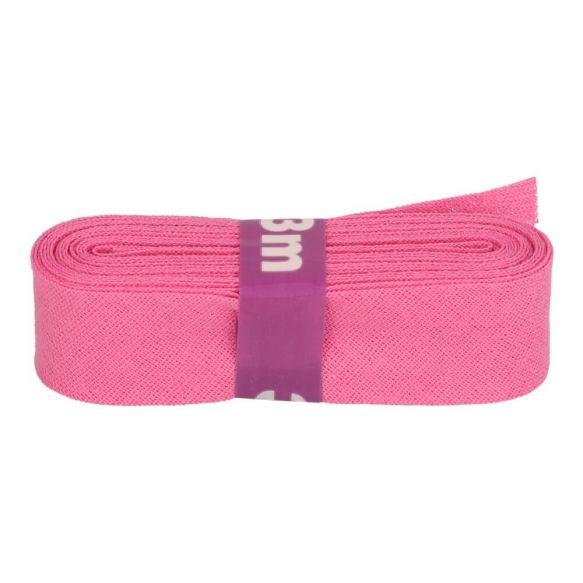 3m Baumwoll Schrägband uni dunkelrosa 12mm