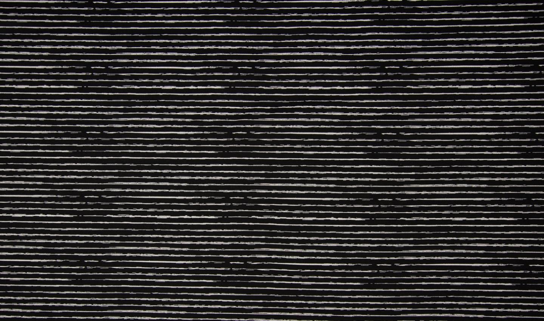 Baumwollstoff schwarz mit weißen Kritzelstreifen