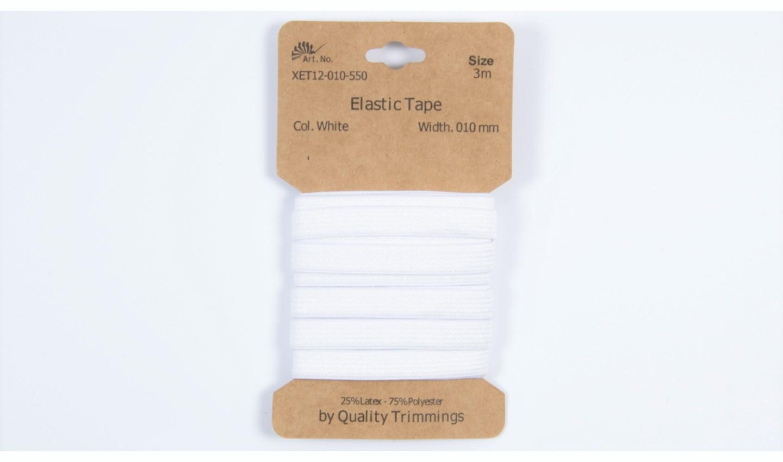 Karte 3m Elastik Gummi 10mm breit in weiß (550)
