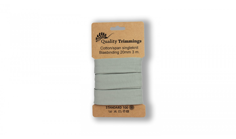 Schrägband Jersey Ben uni dusty mint (226) Karte 3m