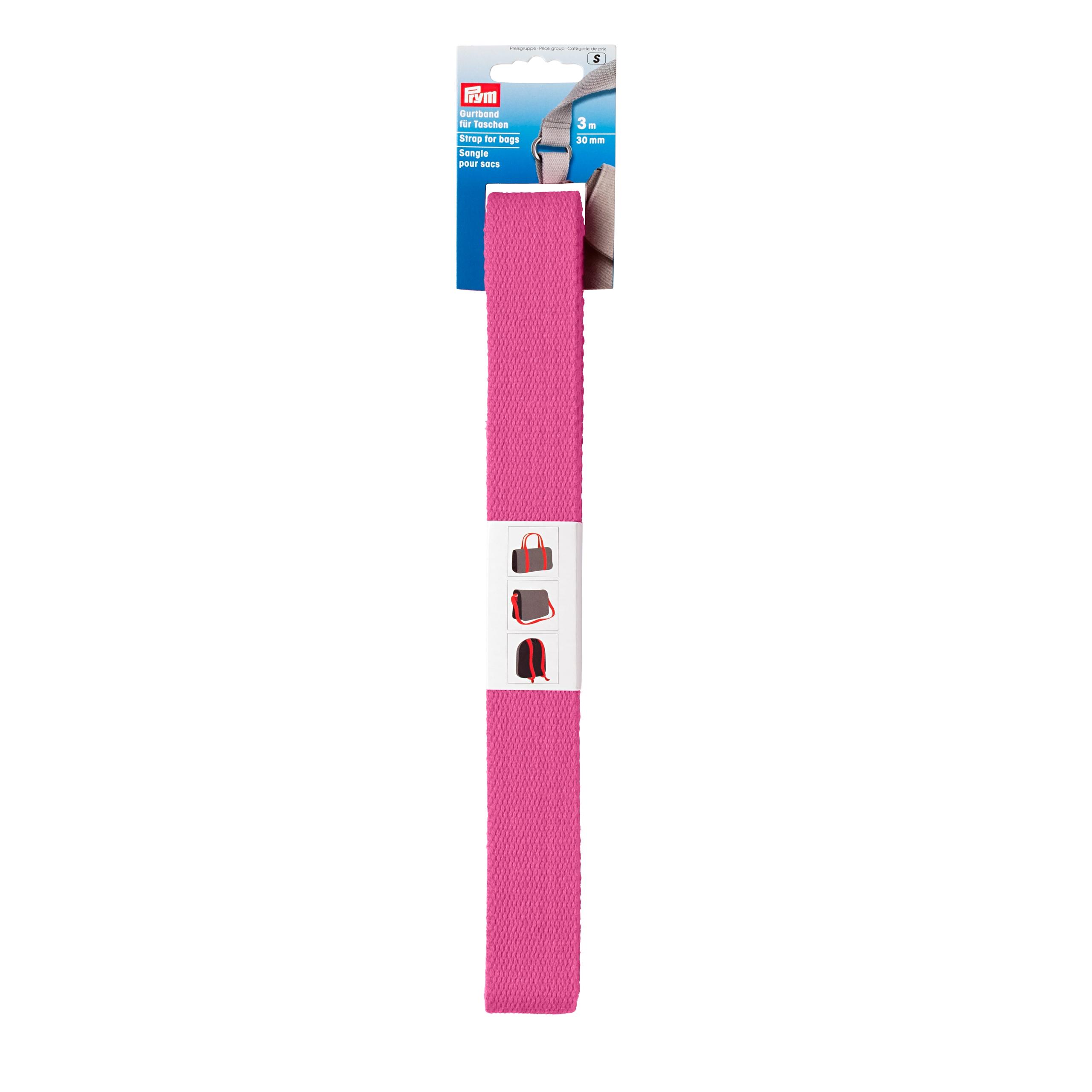 Prym Gurtband für Taschen 30mm pink - 3m abgepackt