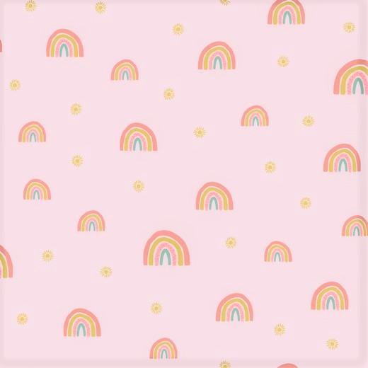 "Softsweat angeraut Organic Cotton ""Rainbows"" - light salmon"