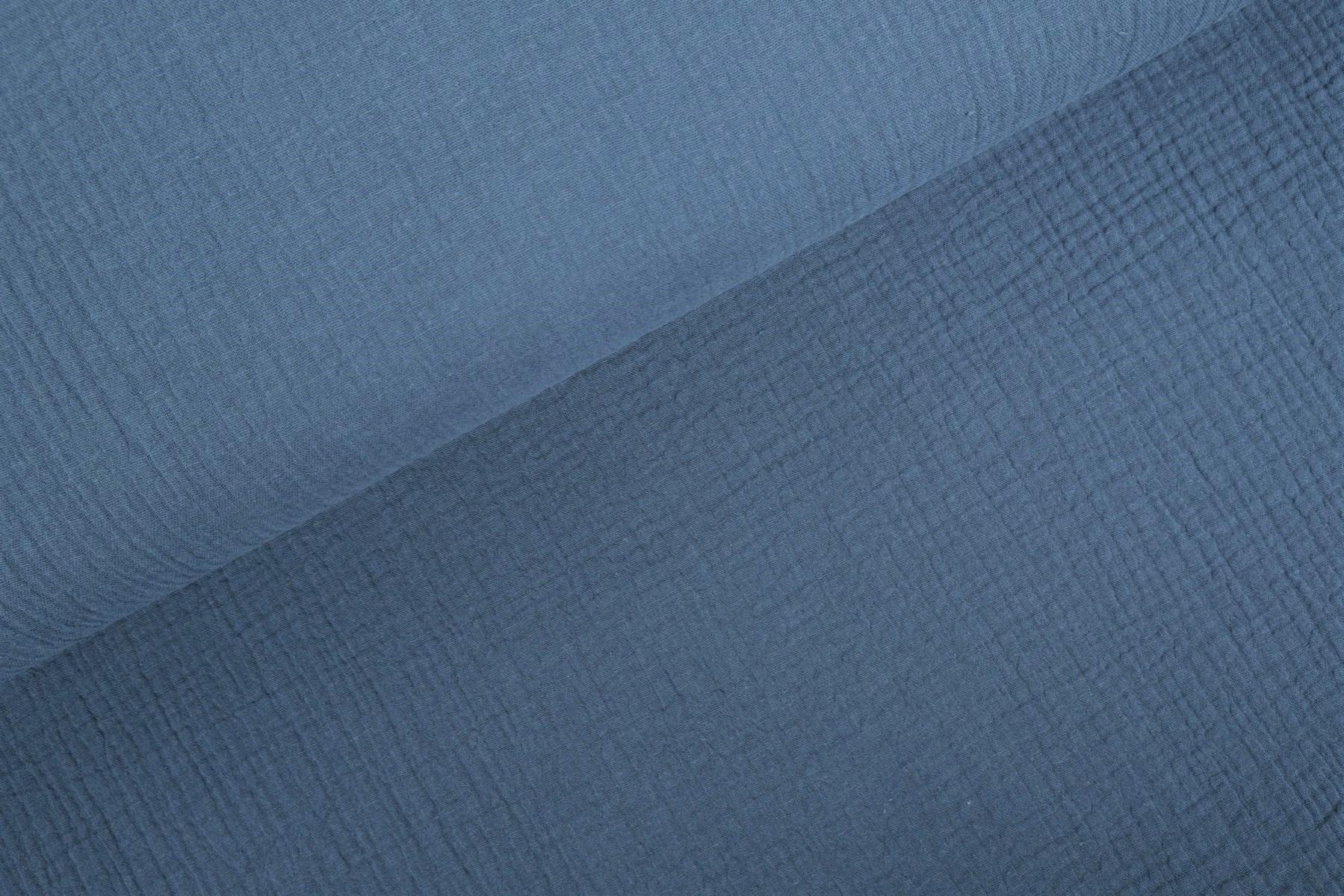 Double Gauze / Musselin uni new jeans